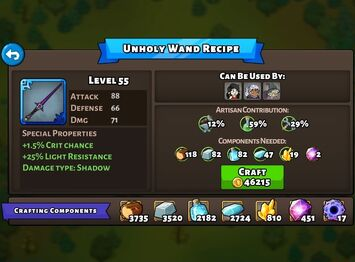 Unholy Wand recipe
