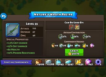 Nature's Wrath recipe