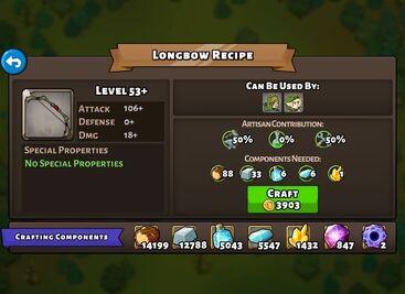 Longbow recipe