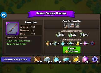 Fiery Death Recipe