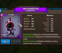 Necromancer Monster Status Max