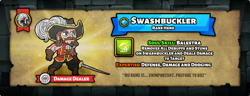 Hero of the day swashbucker