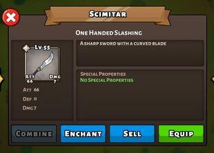 Scimitar weapon