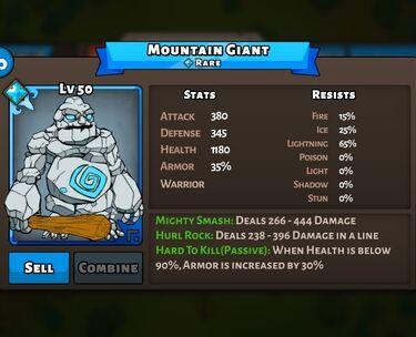 Montain Giant Status Max