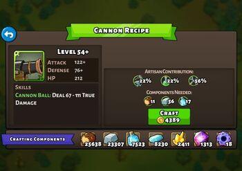 Cannon recipe