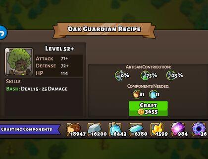 Oak Guardian recipe