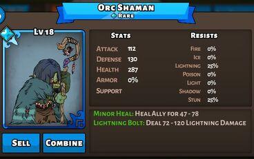 Orc Shaman Status