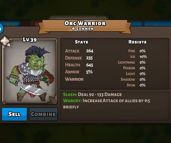 Ork Warrior Status Max