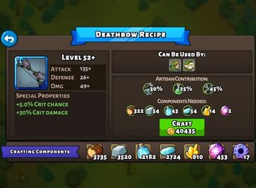 Deathbow recipe