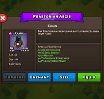 Praetorian Aegis Status Max