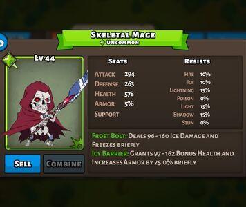 Skeletal Mage Status Special