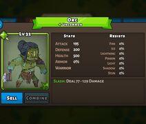 Orc Status Max