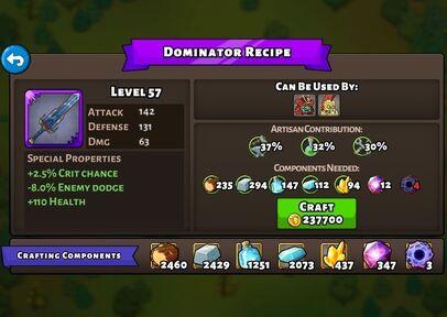 Dominator Recipe