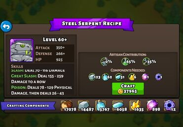 Stell Serpent recipe
