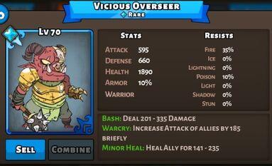 Vicious Overseer Status