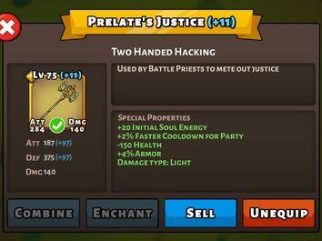 Prelates Justice Status Max