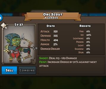 Orc Scout Status Max
