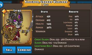 Kragnor, Undead Warlord Status