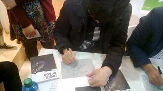 Siu (Tower of God) signing his first english book @ Frankfurt Book Fair