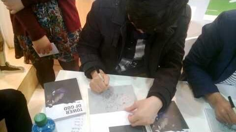Siu (Tower of God) signing his first english book @ Frankfurt Book Fair