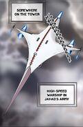 High-speed warship