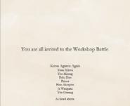 Workshop's invitation