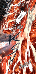 V3Ch56 - Yolche getting scorched by Evankhell's flame