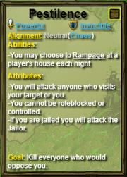 Pestilence Role Card
