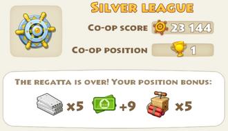 Regatta Position Bonus Rewards