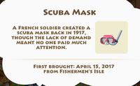 Scuba Mask Artifact
