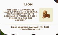 Lion Artifact
