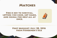 Matches Artifact