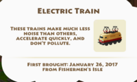 Electric Train Artifact