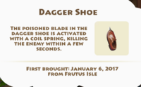 Dagger Shoe Artifact