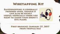 Wiretapping Kit Artifact