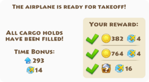 Fully Loaded Airplane Reward Info
