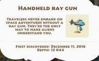 Handheld Ray Gun Artifact