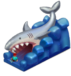 Shark Jaw Trampoline
