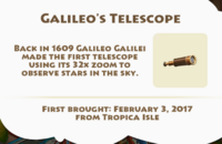 Galileo's Telescope Artifact