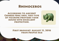 Rhinoceros Artifact