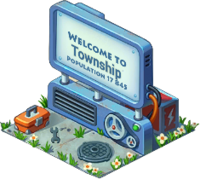 Mechanical Town Sign