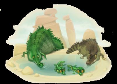 Crocodile Family