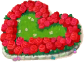 Heart Flower Bed