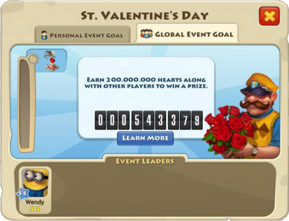 Valentine's Day 2015 Global Goal