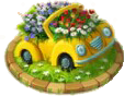 Car Flower Bed Deco