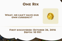 One Rix Artifact