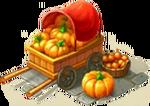 Cart with Pumpkin