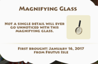 Magnifying Glass Artifact