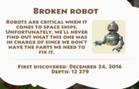 Broken Robot Artifact