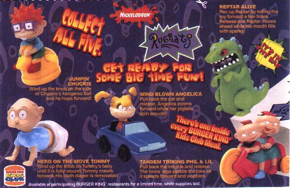 Rugrats 1998 Burger King Toys Wiki Fandom Powered By Wikia